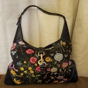Gucci Canvas Floral Flora Jackie Hobo